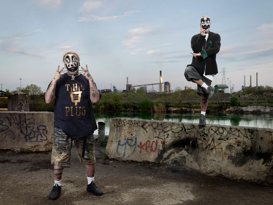 Insane Clown Posse in a photo featured in the exhibit