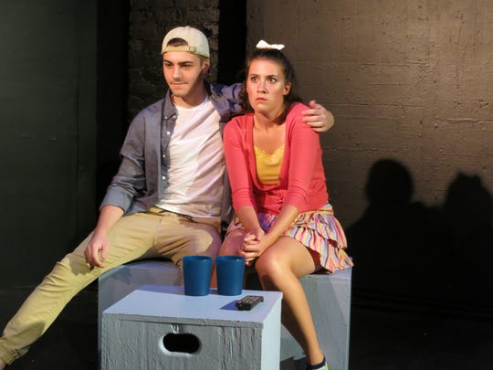 """Jake Rydell and Alayna Patten in """"Cushie"""" at the 2016 edition of BoxFest Detroit."""