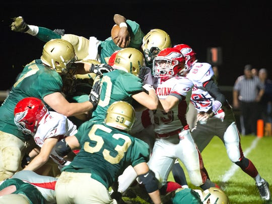 York Catholic's offensive line helped pave the way for Jakkar Kinard to rush for more than 2,000 yards last season and secure a District 3 title. Three starting offensive linemen return from that talented squad in 2017.