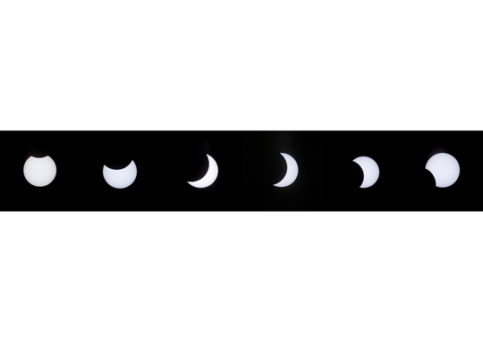 The solar eclipse as seen Monday over El Paso. While