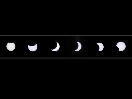 The solar eclipse as seen Monday over El Paso. While