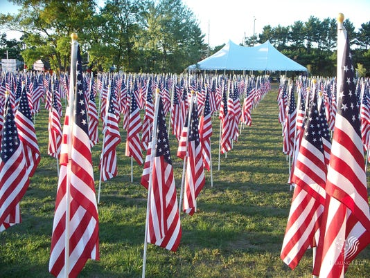 636391903963242834 Individuals may order a 3' x 5' United States flag in honor, in memory or as a tribute to a loved one as part of Clarksville's upcoming Welcome Home Veterans Celebration, September 13-17, 2017. All flags will be displayed in the Field of Honor – Veterans Tribute at Beachaven Vineyards and Winery, 1100 Dunlop Lane, September 14-17. -med.jpg
