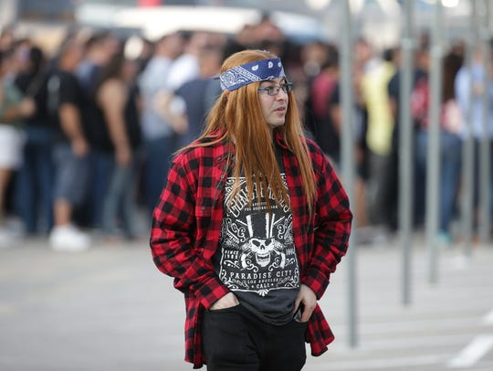 Fans arrive for the Guns N' Roses 'Not in this Lifetime'