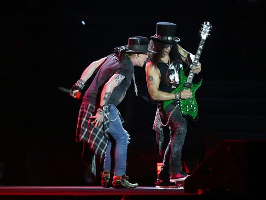 Guns N' Roses plays to a near sell out crowd at the