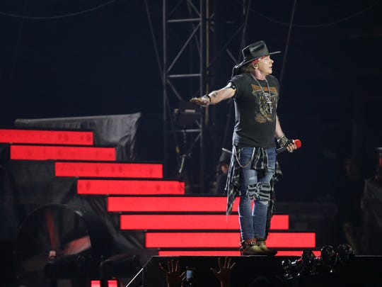 Guns N' Roses plays to a near sell out crowd at the Sun Bowl Wednesday on their Not in This Lifetime Tour. ZZ Top got things started at the Sun Bowl.