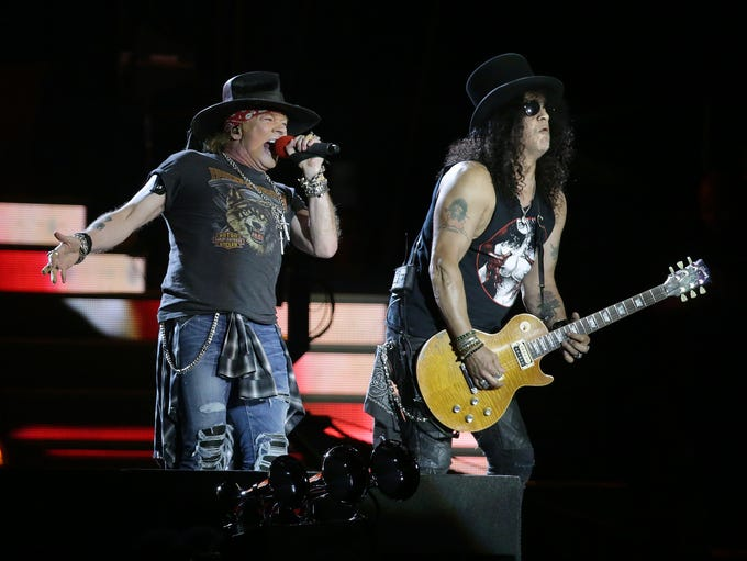 Axl Rose and Slash rock out at the Sun Bowl to a near-sold-out
