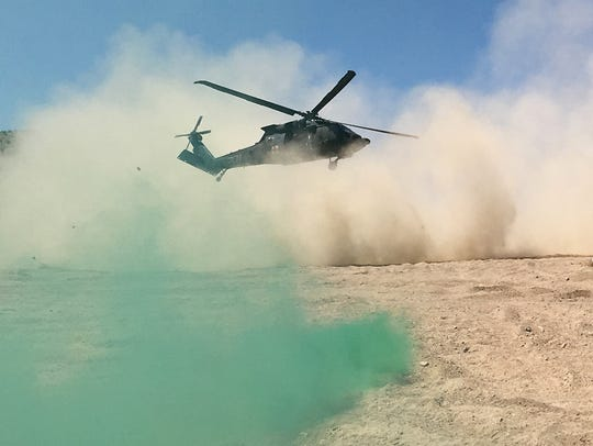 A Black Hawk helicopter from Charlie Company, 2nd Battalion,