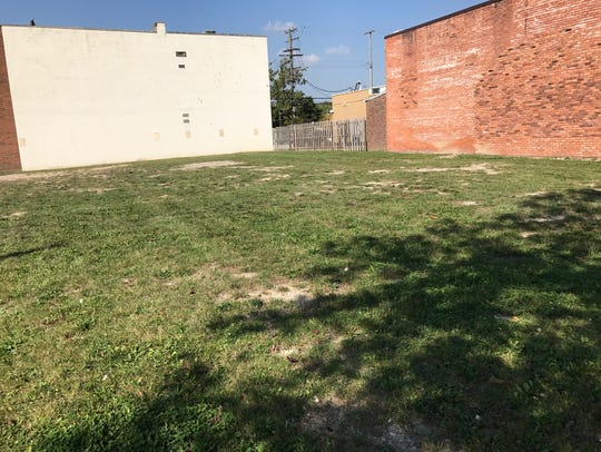 This is the empty lot in Dearborn that was supposed