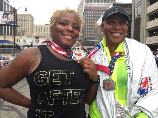 From left, Tracy Blanks-Jefferson, 48, of Adamsville,