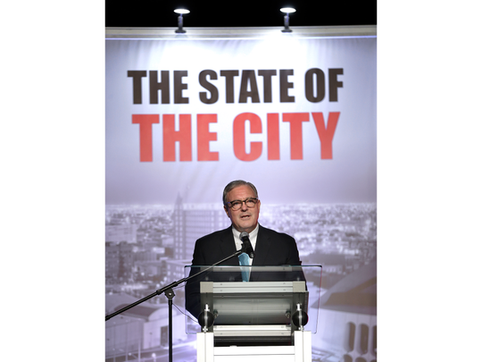 El Paso Mayor Dee Margo delivered his first State of the City address in October.