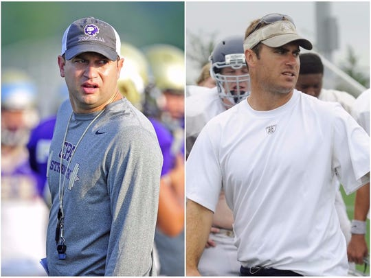 CPA coach Ingle Martin (left) and FRA coach Bill Whittemore