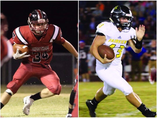 Cheatham County's Walker Bunce (left) and Fairview's