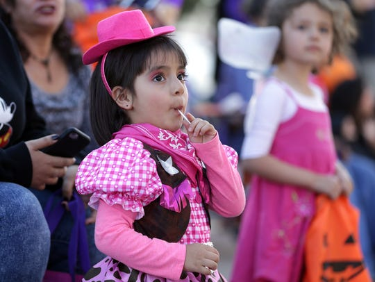Thousands turned out for the annual KLAQ Halloween Parade in 2016.