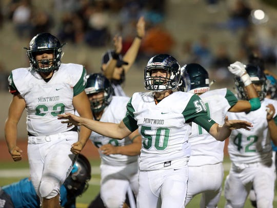 Montwood's Faizal Andha celebrates after stopping Pebble