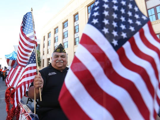 Thousands enjoyed the Veteran's Day parade in downtown El Paso last year.