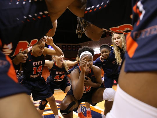 UTEP's Tamara Seda gets the team pumped up before facing