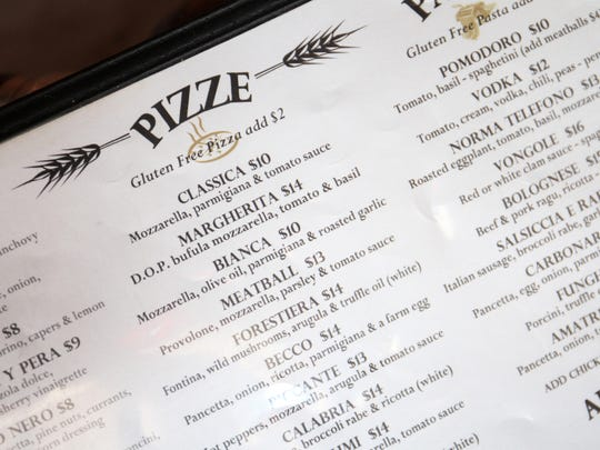 The menu at Tre Pizza Pasta and Beer Garden in Freehold Borough. The restaurant will open a second location, in Brick, this year.