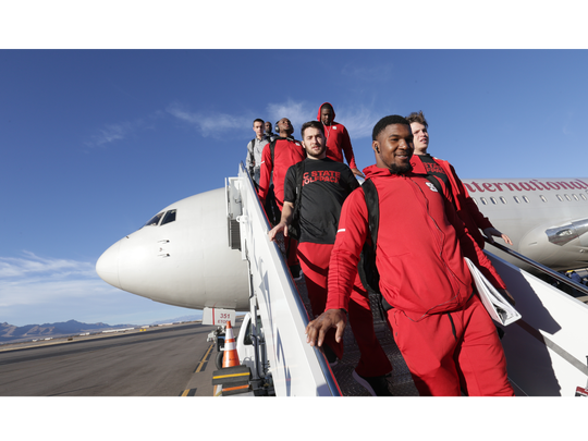 The North Carolina State football team arrives Monday in El Paso, where they'll face Arizona State in the Hyundai Sun Bowl on Friday.