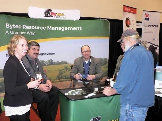(From left) Sandy Larson, Larson Acres, Evansville,