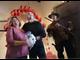 Bert and Marta Saldana renew their vows during a shotgun