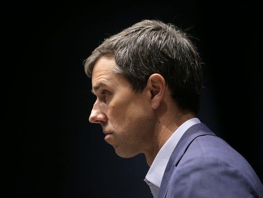 U.S. Rep. Beto O'Rourke, D-El Paso, listens to questions