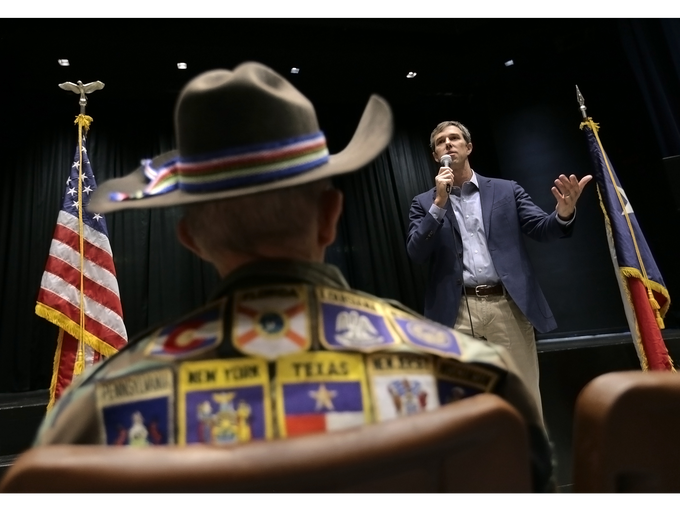 Democratic U.S. Rep. Beto O'Rourke, who is running