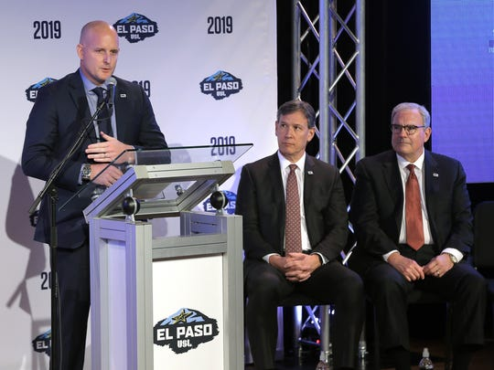 United Soccer League President Jake Edwards welcomes El Paso to the league in February.