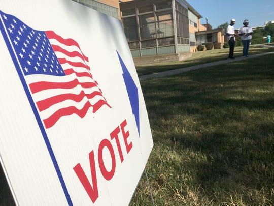 Voting in Detroit.