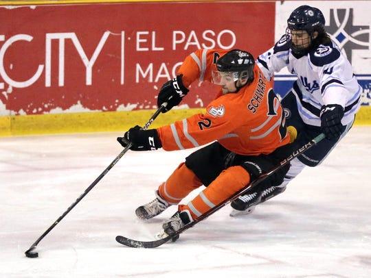 El Paso's Jayze Dundas-Schwartz cuts back to goal trailed