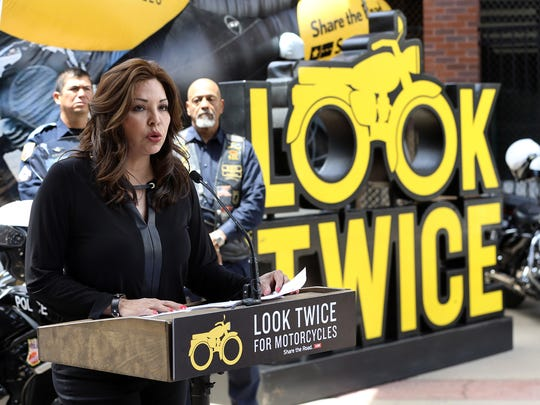 """The Texas Department of Transportation kicked off its """"Share the Road: Look Twice for Motorcycles"""" campaign Thursday in El Paso. Officials urged drivers to be extra cautious to help protect motorcyclists."""