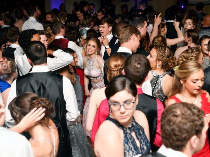 Students and their guests attend Dover's prom Saturday,