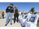 Lilli Heinrich talks to Sgt. Ron Martin during the