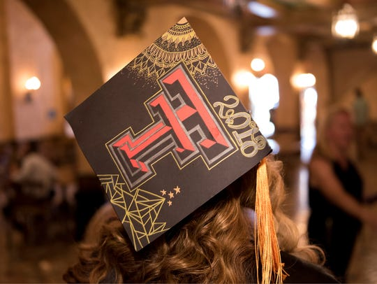 The Gayle Greve Hunt School of Nursing graduated students during a commencement ceremony at the Plaza Theatre.