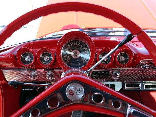 The fourth annual Sun City Showdown will give El Pasoans an inside look into some special cars. Pictured is the steering wheel of a Chevy Impala.