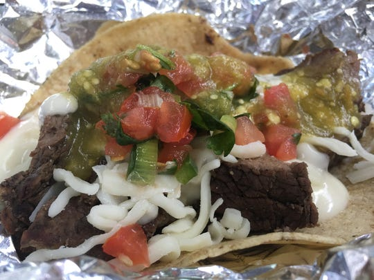 Steak Fajita Taco from Wella's Kitchen.