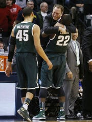Branden Dawson lifted Tom Izzo after the Spartans beat