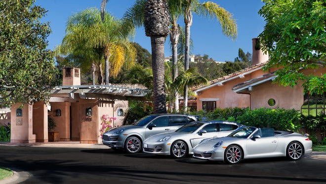 At the Rancho Valencia Resort in Rancho Santa Fe, Calif., guests get complimentary use of one of three newly released Porsche models.