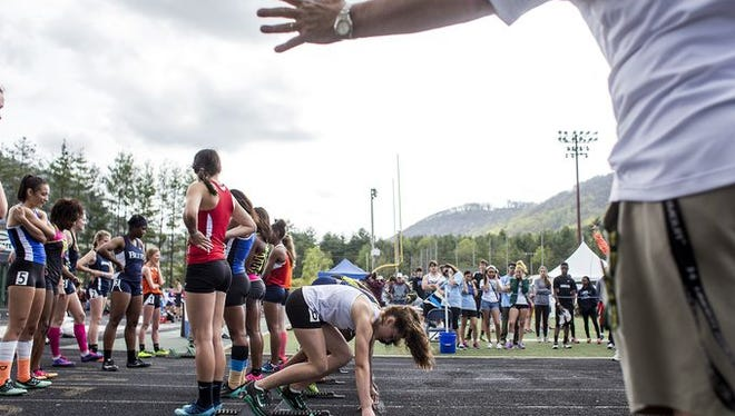 The Blue Ridge Classic track meet is being held today at Reynolds.