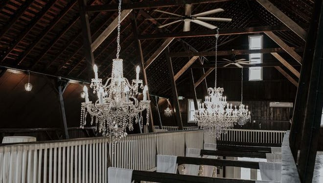 The scene of a wedding at The Loft on Isanogel.