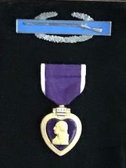 Jerry Donnellan's Purple Heart shows the purple laminate