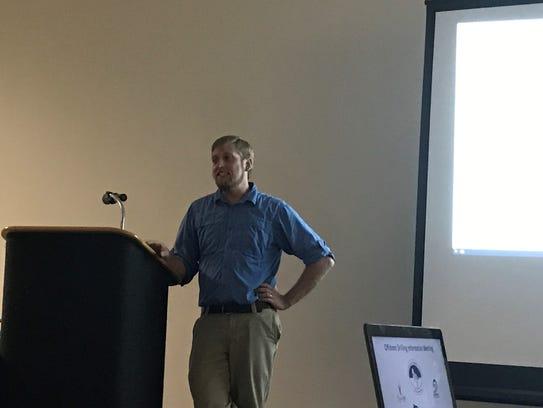 Matt Heim of Assateague Coastal Trust presents an argument