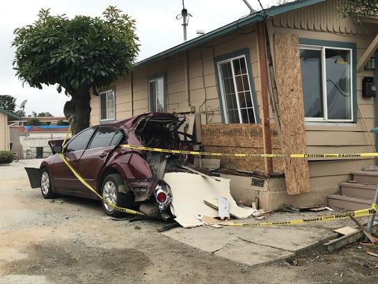 A crash caused by Noel Sierra displaced three adults