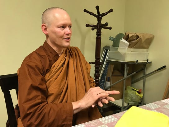 Ajhan Jotipalo Bhikkhu talks outside the City of Ten