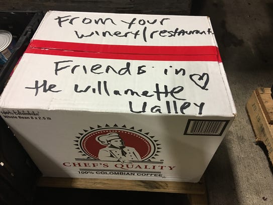 Donations from wineries in the Willamette Valley were