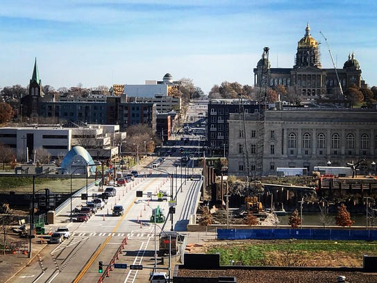 Work on the rebuilt Grand Avenue bridge will wrap up in 2018, but construction will begin on two more downtown bridges.
