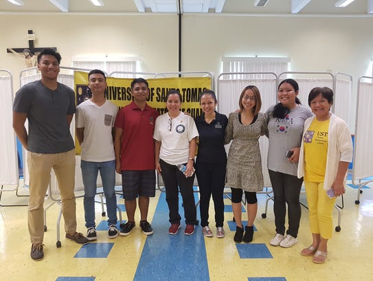University of Guam students participated in a Homeless