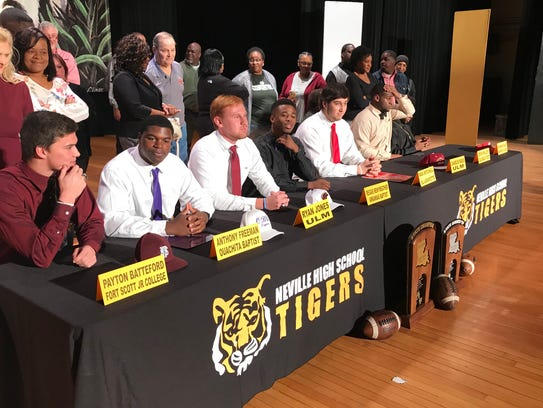 Neville held its ceremony on National Signing Day inside