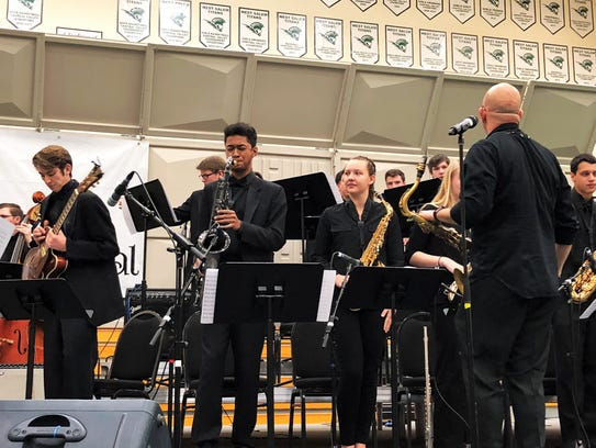 Anthony Bolden, a junior saxophone player at West Salem