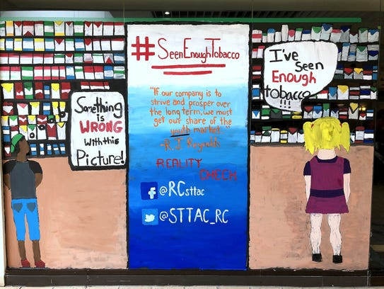 This is the finished mural that a group of students
