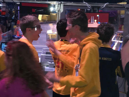 Students from StrykeForce, a team of students in and
